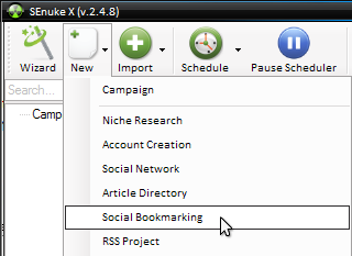 Social Bookmarking (SenukeX) - krok 1