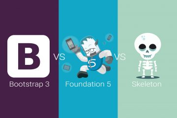 Bootstrap3 Vs Foundation5 Vs Skeleton