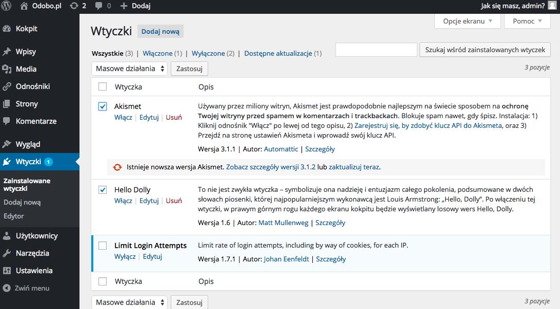 Optymalizacja WordPressa - krok 2