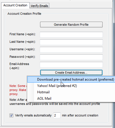 Account Creation (SenukeX) - krok 5